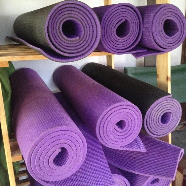 purple yoga mats